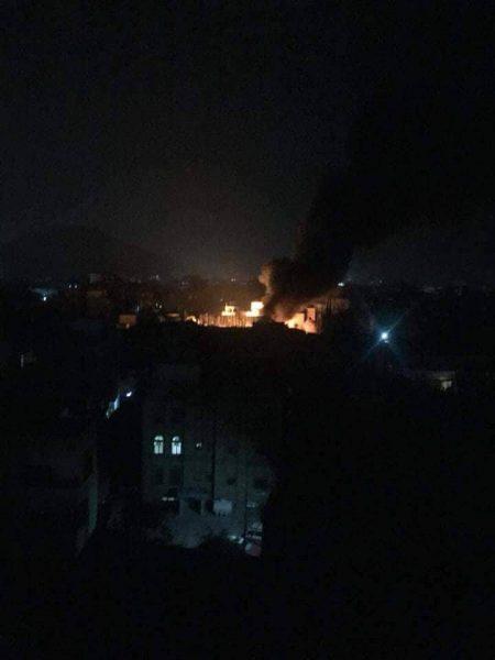 طيران التحالف العربي يستهدف مبنى المجلس السياسي لجماعة الحوثي ومكتب شركة النفط في صنعاء