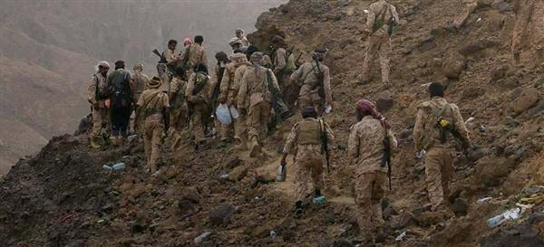 قوات الجيش الوطني تستكمل تحرير جبل العويد في مقبنة غرب تعز