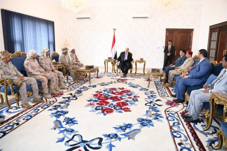 عدن: رئيس الجمهورية يستقبل قائد قوات التحالف العربي
