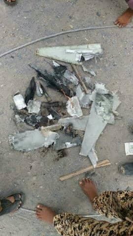 قوات الجيش الوطني تسقط طائرة مسيرة تابعة لمليشيا الحوثي في الحديدة