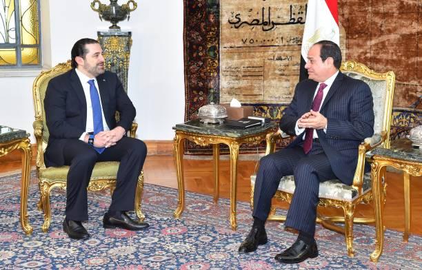 الرئيس المصري (السيسي) يوجه رسالة لرئيس وزراء لبنان (الحريري)