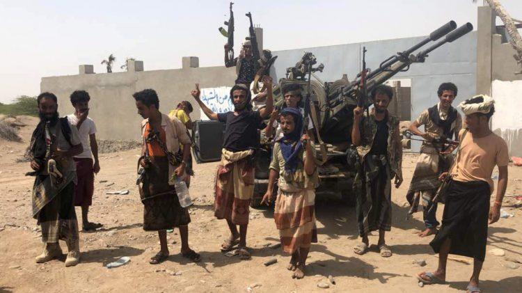 الجيش الوطني يتمكن من قطع خط الحديد صنعاء