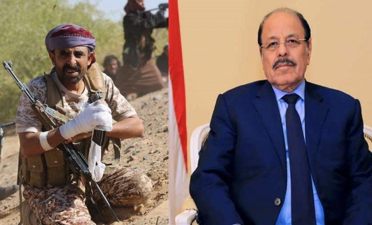 الفريق علي محسن يعزي في استشهاد العميد أحمد صالح العقيلي
