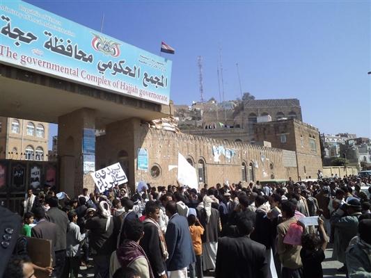 مليشيا الحوثي تقوم بتحويل المجمع الحكومي في محافظة حجة الى مستشفى مع تزايد قتلاهم وجرحاهم