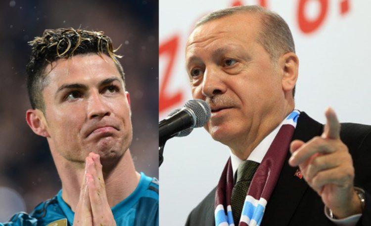 الرئيس التركي اردوغان يمدح كريستيانو ويشيد بموقفه تجاه فلسطين