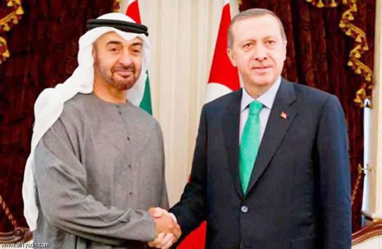 رئيس الامارات خليفة وولي عهد ابوظبي محمد بن زايد يهنئون الرئيس التركي أردوغان