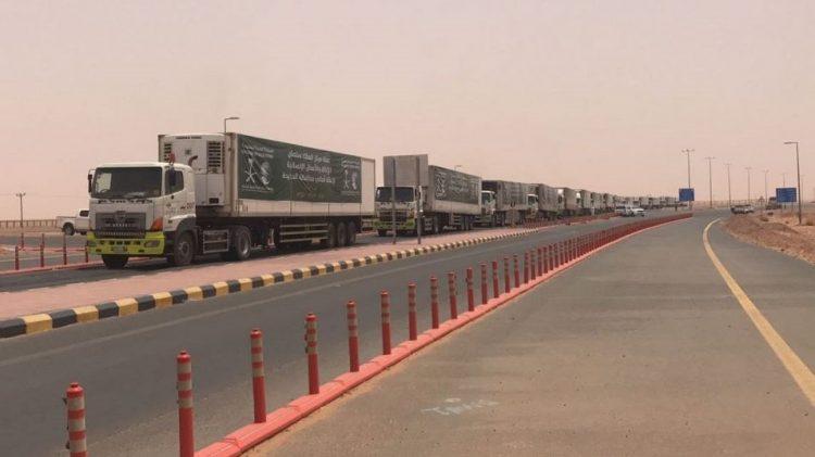 مركز الملك سلمان الاغاثي يرسل 25 شاحنة اغاثية لأهالي محافظة الحديدة