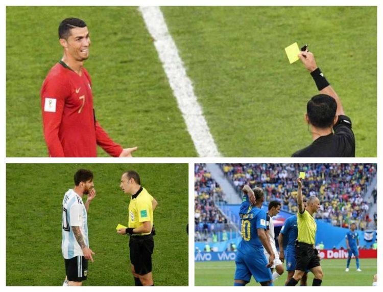 بينهم رونالدو وميسي .. تعرف على اللاعبين المهددين بالإيقاف في كأس العالم 2018 بروسيا