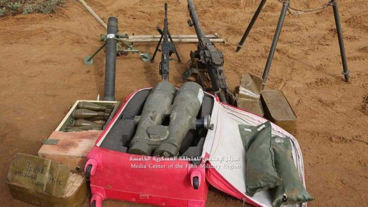 قوات الجيش الوطني تعثر على ناظور إيراني الصنع من أحد مواقع المليشيات في وادي حيران