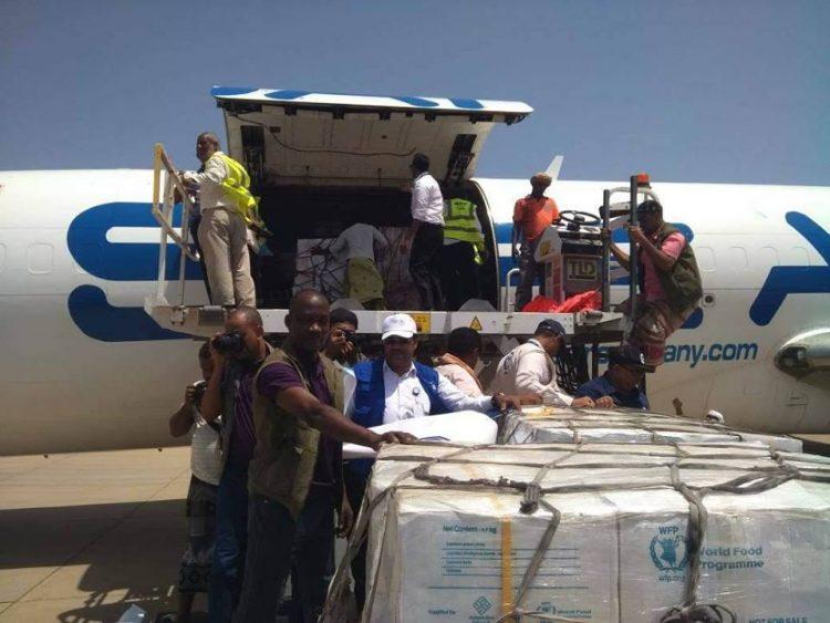 وصول طائرة مساعدات إغاثية كويتية إلى سقطرى