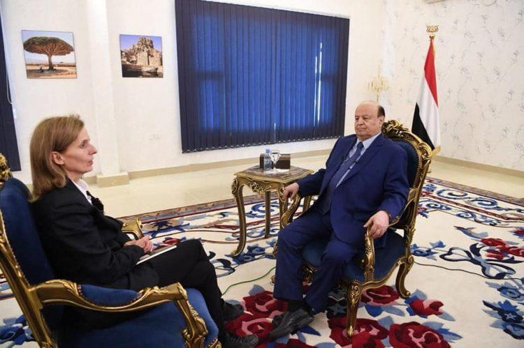 """الرئيس هادي: لست نادماً على الاستعانة بالتحالف و""""عاصفة الحزم"""" من أنجح القرارات التي تم اتخاذها في العالم العربي"""
