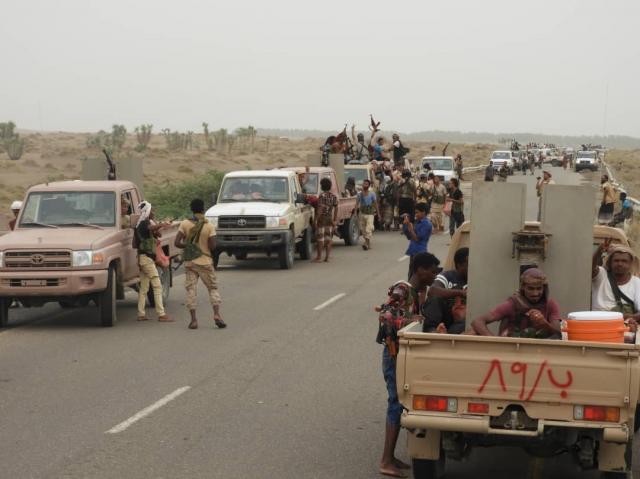 الحديدة: الجيش الوطني يخوض معارك عنيفة ويسيطر على مواقع المليشيات الحوثية بالدريهمي