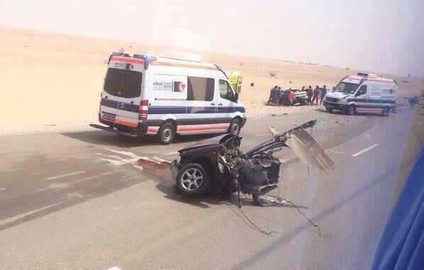 بالصور.. 7 سعوديين يلقون حتفهم في حادث مروع بسلطنة عمان