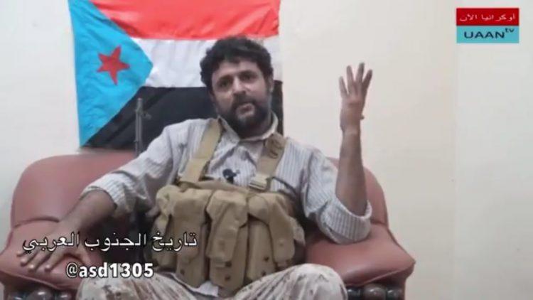 """شاهد فيديو.. """"أبو همام"""" يعلن عدم اعترافه بشرعية الرئيس هادي ويتهم قيادات جنوبية بالارتزاق"""
