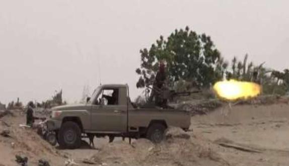 مقتل وإصابة 31 عنصرا حوثيا بنيران قوات الجيش في جبهة الملاجم بالبيضاء