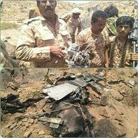 قوات الجيش الوطني تسقط طائرة مسيرة تابعة للمليشيات بمديرية نعمان في البيضاء