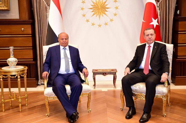 الرئيس هادي يهنئ أردوغان بمناسبة ذكرى يوم النصر التركي