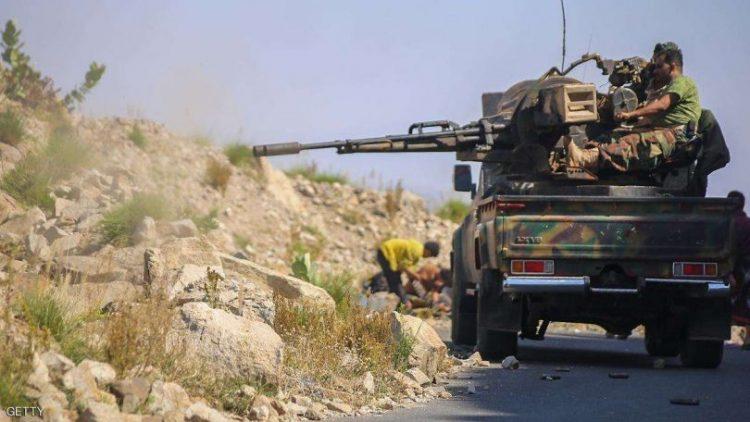 قوات الجيش تصد هجوما لمليشيا الحوثي في جبهة حيفان بمحافظة تعز