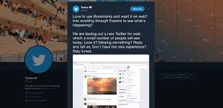 تويتر تختبر تصميم جديد لنسخة الويب من موقعها