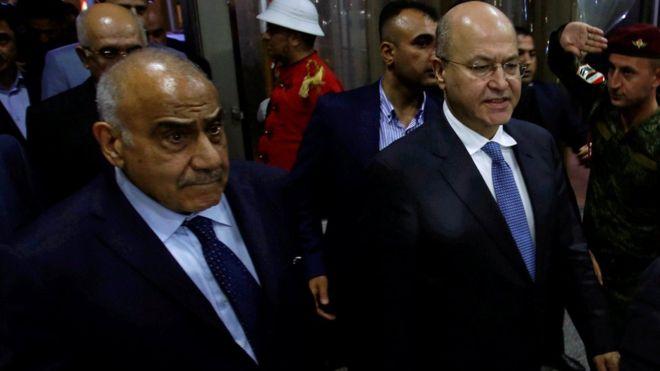 برهم صالح يكلف عادل عبد المهدي بتشكيل الحكومة العراقية الجديدة