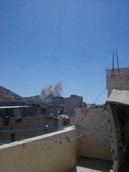 طيران التحالف العربي يشن غارات جوية على العاصمة صنعاء