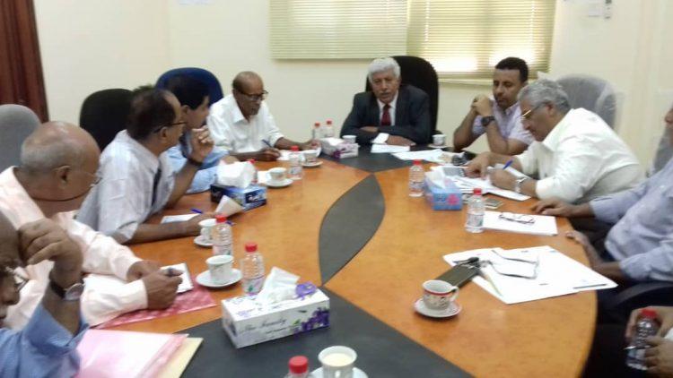 مجلس ادارة الهيئة العليا للادوية يناقش قرار نقل مركز الهيئة الرئيسي الی العاصمة المؤقته عدن