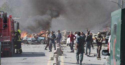 """سلسلة انفجارات تهز العاصمة الافغانية """"كابول"""""""