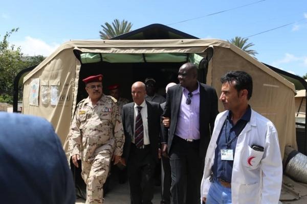 """بعد مناقشة الترتيبات الأولى لزيارة """"غريفيث"""" الوفد الأممي ينهي زيارة محافظة تعز"""