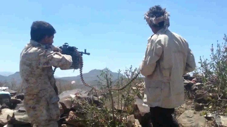قوات الجيش الوطني تستعيد السيطرة على مناطق ومواقع استراتيجية في قعطبة بالضالع