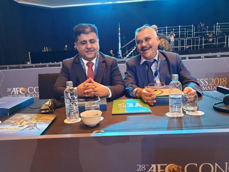 رئيس اتحاد كرة القدم الشيخ العيسي يشارك في اجتماعات الجمعية العمومية الثامنة والعشرين للاتحاد الاسيوي
