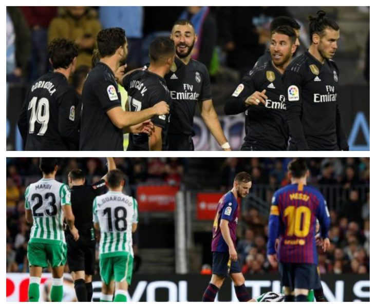 برشلونة يسقط امام جمهوره برباعية ريال بيتيس ، وريال مدريد يفوز بالأربعة على سيلتافيجو