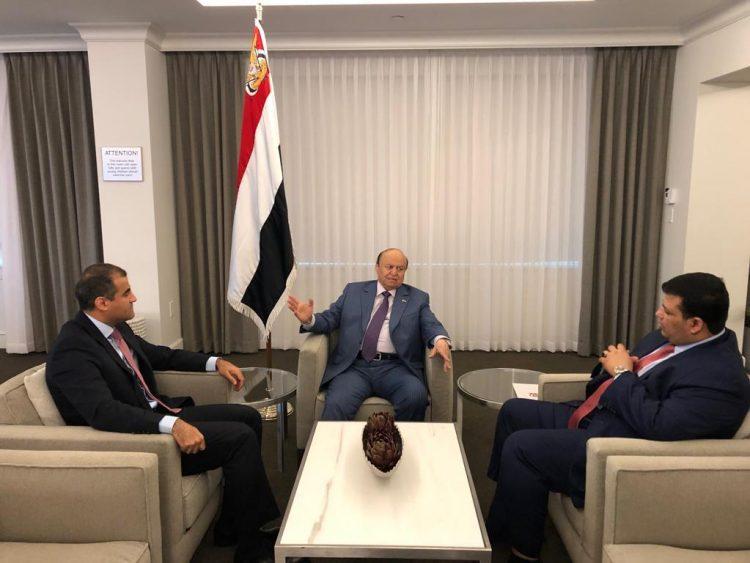 صورة.. الرئيس هادي من أمريكا يؤكد على أهمية دور البعثات الدبلوماسية اليمنية في مختلف بلدان التمثيل