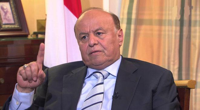 الرئيس هادي يوجه رسالة هامة للسعودية والإمارات