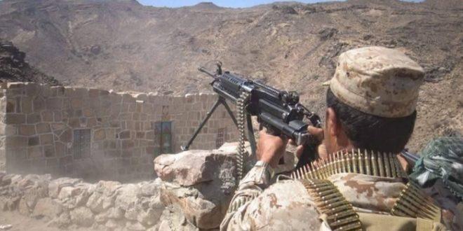 قوات الجيش تحبط هجوما لمليشيا الحوثي على جبل هان في تعز
