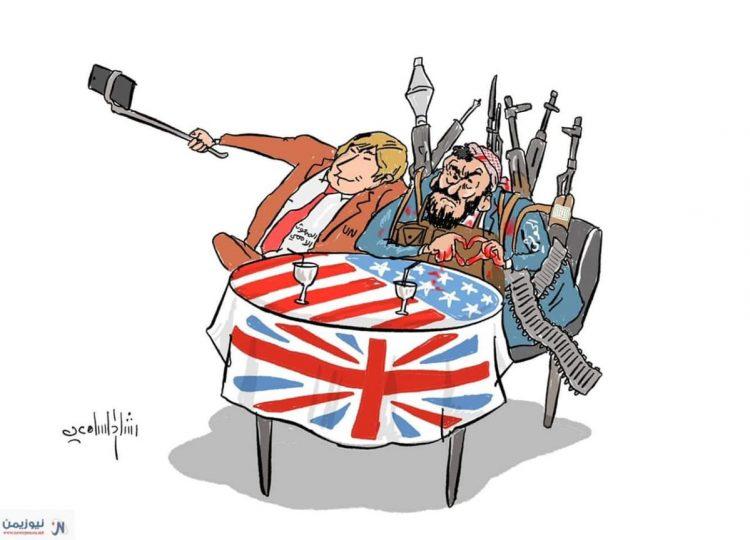 """كاريكاتير.. """"غريفيث والحوثيين"""""""