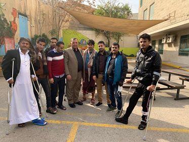 فاضل يزور جرحى الجيش الوطني والمقاومة في مستشفيات عمان