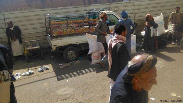قناة المانية ترصد بيع المساعدات الإغاثية في أسواق صنعاء