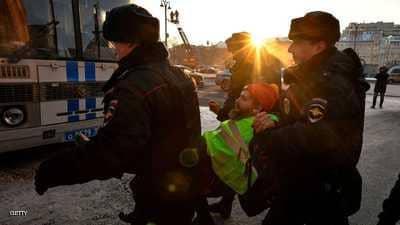 """السلطات الروسية تستبق """"ستراتها الصفراء"""" باعتقالات"""