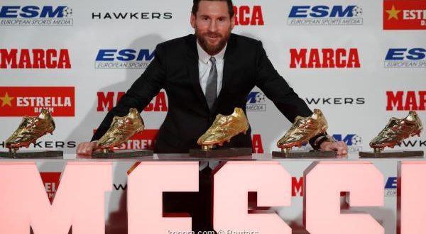 ميسي يتسلم الحذاء الذهبي الخامس في تاريخه