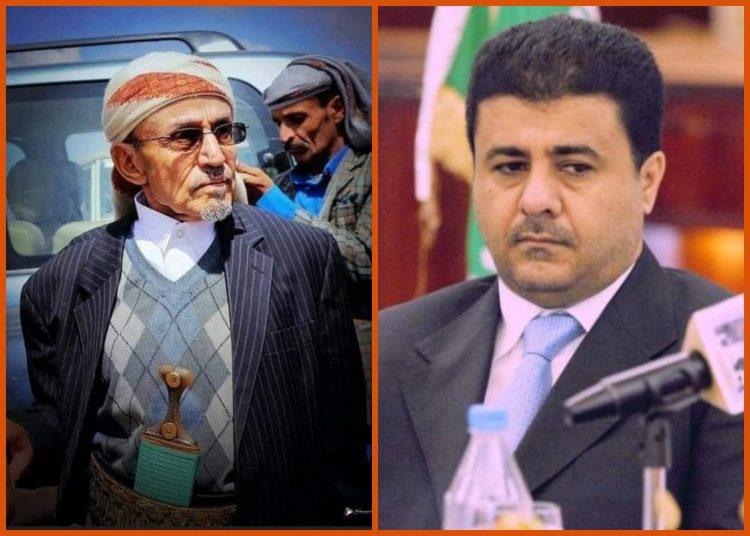 الشيخ احمد العيسي يعزي في وفاة محافظ عمران الاسبق الشيخ محمد حسن دماج