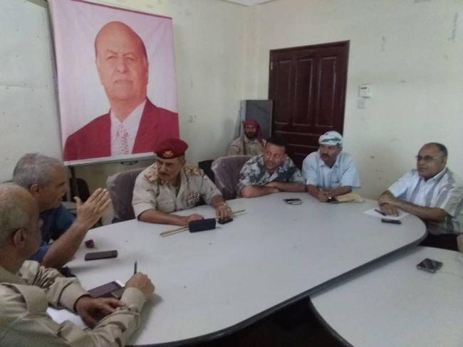 اللجنة الأمنية في الضالع تقر تنفيذ حملة أمنية لإزالة العشوائيات