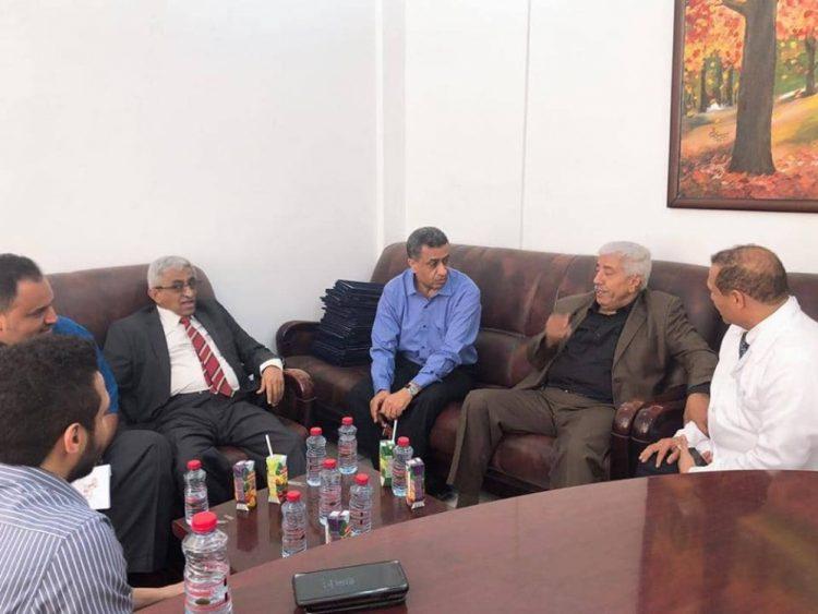 باعوم وشريم يزوران مستشفى البريهي الدولي في عدن