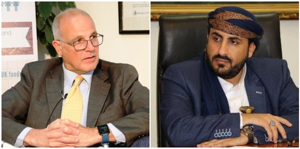 """سفير سابق استفسر عن مقصده!.. السفير البريطاني في اليمن يعيد تغريدة """"حوثية"""" تفجر غضباً واسعاً"""