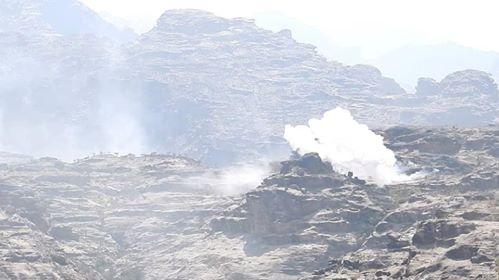قوات الجيش الوطني تفشل محاولة المليشيا استحداث خنادق في جبهة الشامية