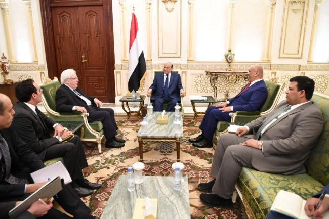 رئيس الجمهورية يلتقي المبعوث الأممي إلى اليمن وهذا ما دار في اللقاء