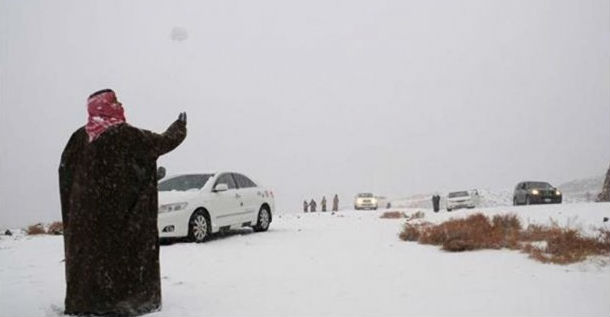 السعودية.. توقعات بتساقط الثلوج ودرجات تحت الصفر شمال المملكة ابتداءً من هذا الوقت!