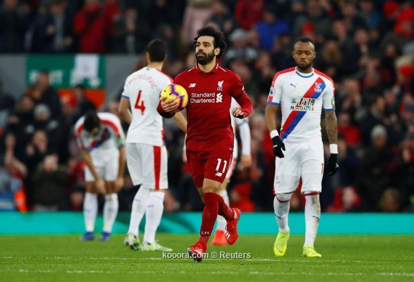 ليفربول يتجاوز كريستال بالاس بصعوبة.. ومحمد صلاح يسجل هدفين ويحقق انجاز جديد