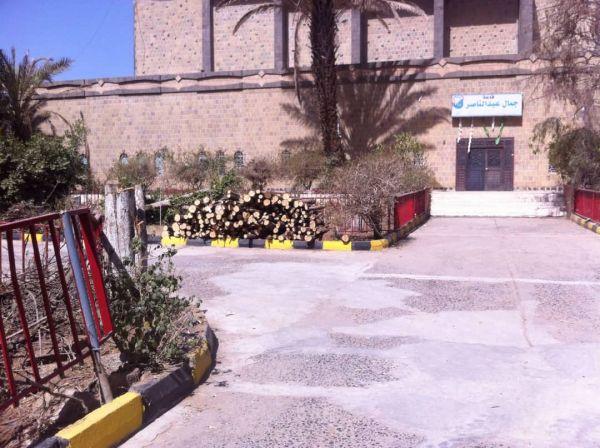 مليشيا الحوثي تحتطب أشجار الزينة في جامعة صنعاء القديمة (صورة)