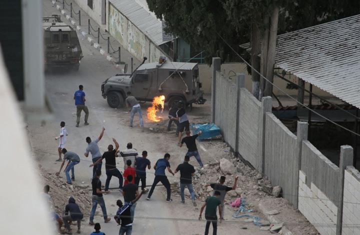 فلسطين: عشرات الإصابات في مواجهات مع قوات الاحتلال الاسرائيلي برام الله