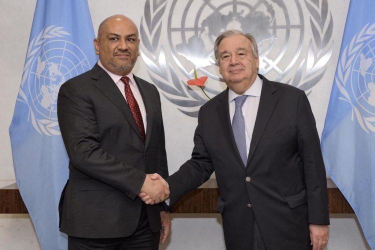 """اليماني يؤكد تلقيه وعداً من الأمين العام للأمم المتحدة """"بمغادرة"""" الحوثيين مدينة الحديدة"""